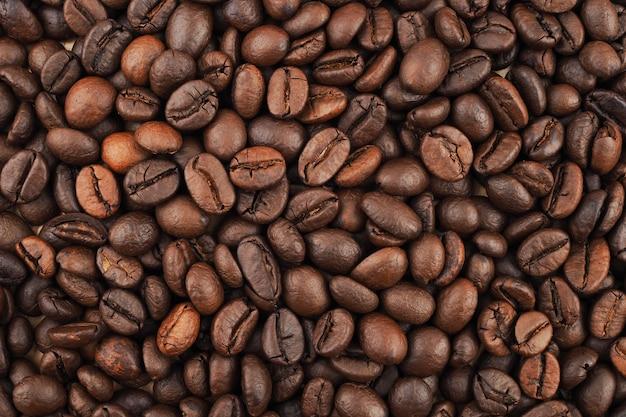 Tekstura palonych ziaren kawy