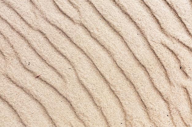 Tekstura piasku. piaszczysta plaża tło, widok z góry. wybrzeże morza bałtyckiego