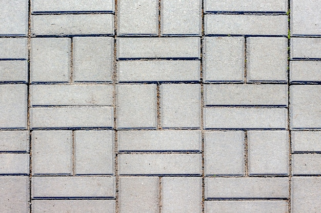 Tekstura płyt chodnikowych. układ ulic i placów miasta