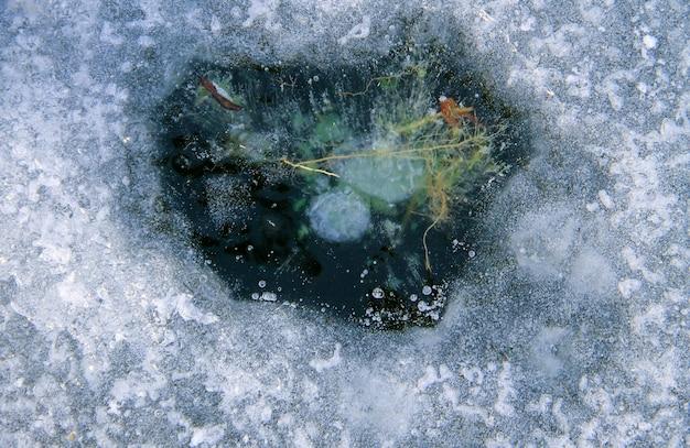 Tekstura powierzchni lodu. zimowe tło