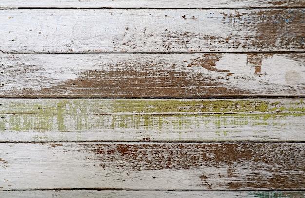 Tekstura poziomego wzoru grunge malowanej drewnianej deski na abstrakcyjne tło