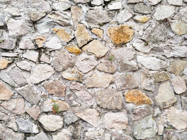 Tekstura ścian z kamienia naturalnego. stary zamek kamienny mur tekstura tło. ton ziemi. rustykalny szorstki pomysł na dekorację w tle do projektowania mieszkań lub ogrodzenia