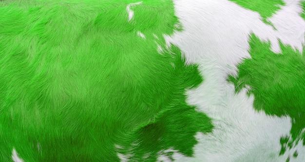 Tekstura skóry krowy zielony. rolnictwo. gładka powierzchnia.