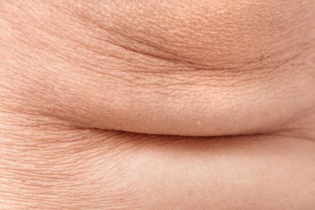 Tekstura skóry postarzałej i pomarszczonej