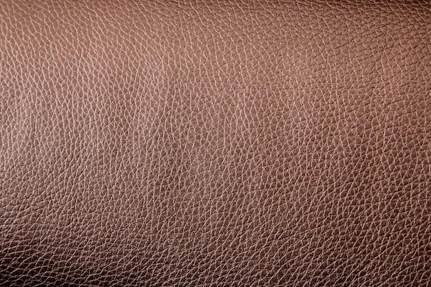 Tekstura skóry syntetycznej w kolorze brązowym
