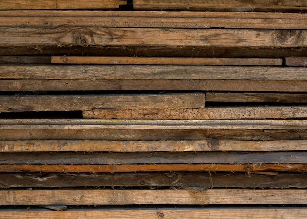 Tekstura stare zakurzone deski, składany stos, z siecią