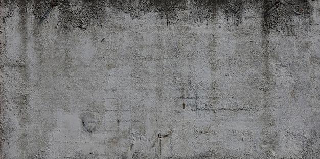 Tekstura starej betonowej ściany tłoczonej w kolorze szarym. tło