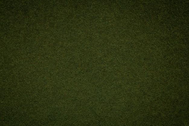 Tekstura stary ciemnozielony papierowy tło, struktura gęsty mech karton