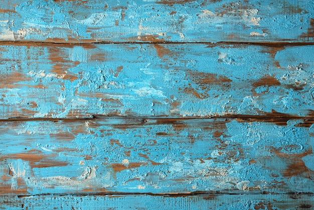 Tekstura stary drewno z błękitną farbą