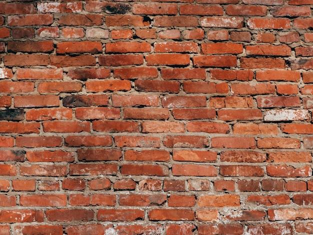 Tekstura stary ściana z cegieł jest czerwona