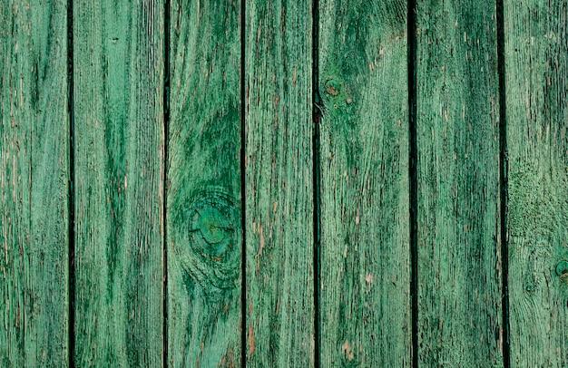 Tekstura starych drewnianych hałd w kolorze zielonym