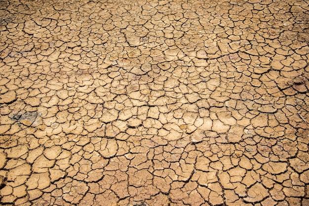 Tekstura suchej gleby jako wysoka temperatura