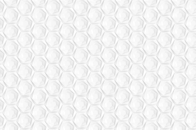 Tekstura sześciokątnej trójwymiarowej siatki z komórkami o różnej głębokości z występami. ilustracja 3d