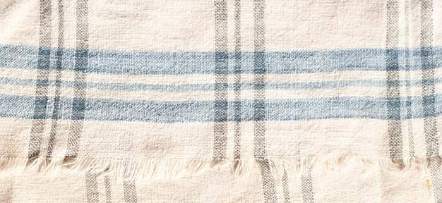 Tekstura tajlandzkiej prostej bawełnianej tkaniny.