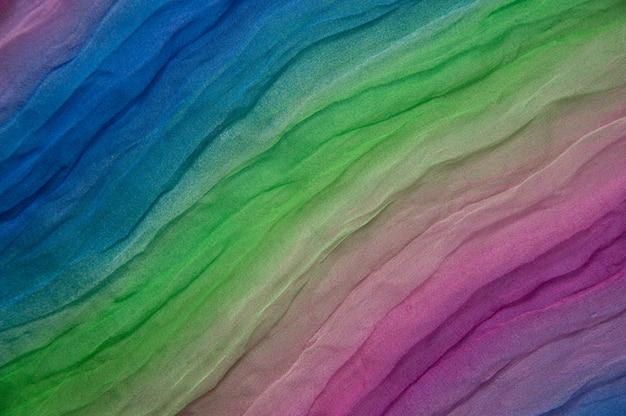 Tekstura tęcza wielobarwny jedwab
