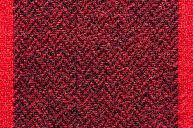 Tekstura tkanina czarno-czerwona