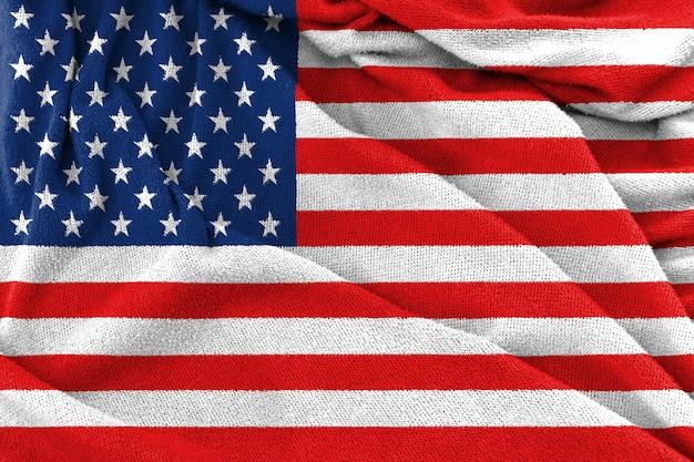 Tekstura tkanina flagi narodowej usa