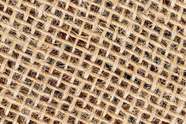 Tekstura tkaniny jutowej pod kątem ukośnym