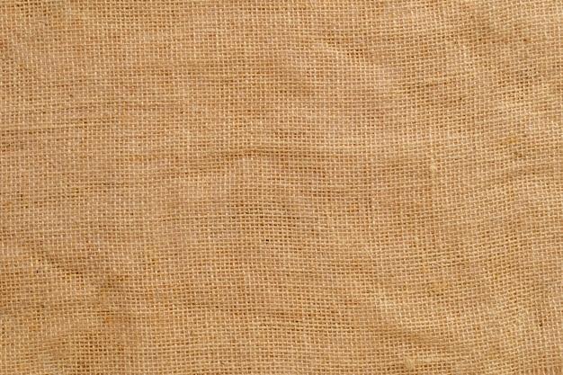 Tekstura tkaniny jutowej z drobną siatką