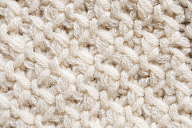 Tekstura tkaniny z dzianiny wełnianej