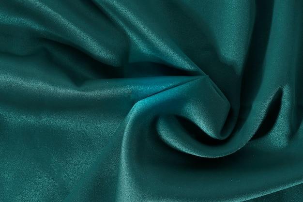 Tekstura tkaniny zielone tło jedwabiu
