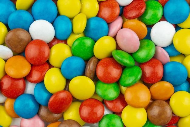 Tekstura tła kolorowych cukierków
