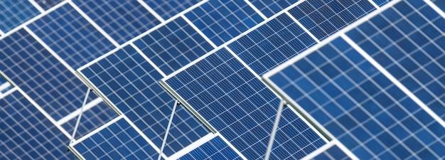 Tekstura tła paneli słonecznych. alternatywna, czysta i zielona energia
