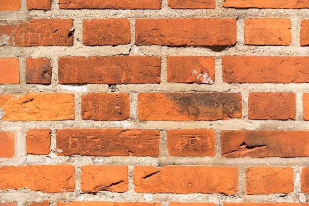 Tekstura tła ściany z czerwonej cegły