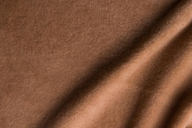 Tekstura tła. tkanina z wełny alpaki w kolorze brązowym