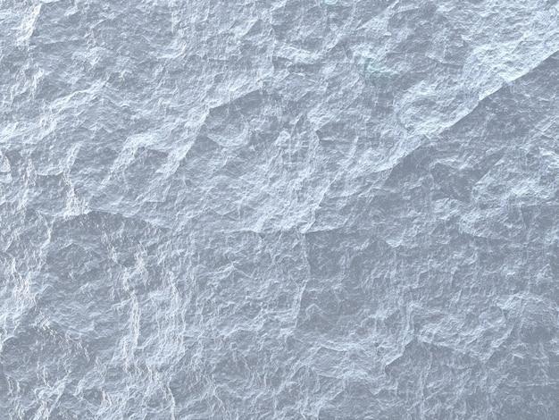 Tekstura tła z szorstkiego białego kamienia, powierzchnia lodu w kolorze niebieskim i białym zbliżenie