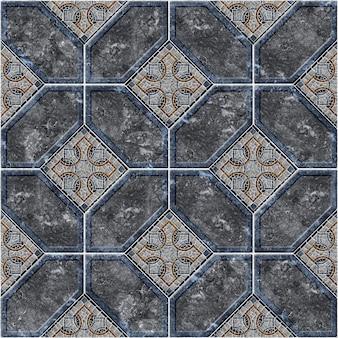 Tekstura tła z wzorem. dekoracyjne płytki kamienne z kolorowego marmuru i granitu. element projektu