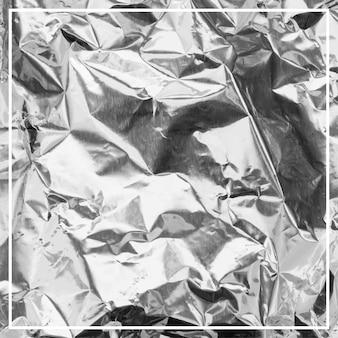 Tekstura tła zmiętej folii aluminiowej