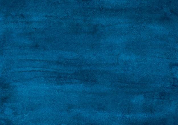 Tekstura tło akwarela ciemny atrament niebieski