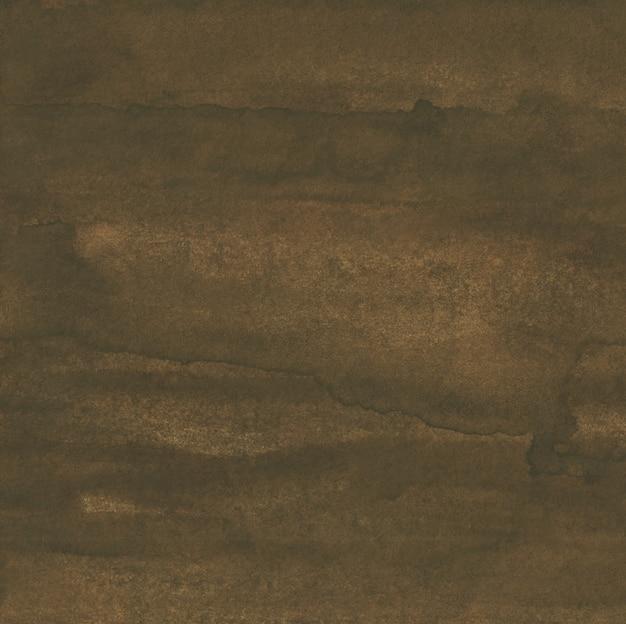 Tekstura tło akwarela głęboka kawa brązowy