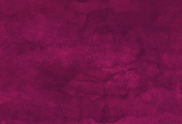 Tekstura tło akwarela głęboki karmazyn
