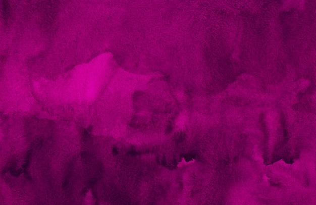 Tekstura tło akwarela głęboki szkarłatny. akwarela streszczenie ciemno fioletowe tło. szablon poziomy.