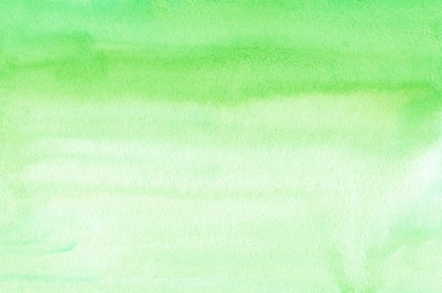 Tekstura tło akwarela jasnozielony ombre. aquarelle pastelowe zielone tło gradientowe. szablon poziomy.