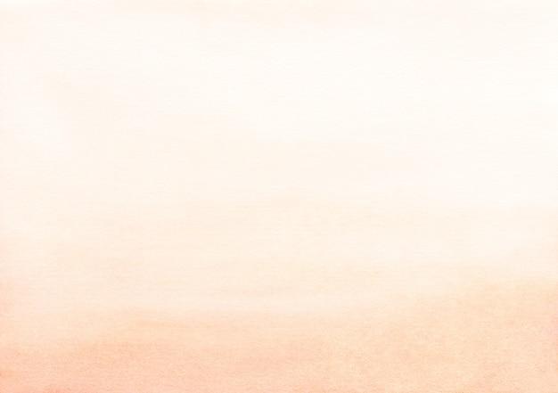Tekstura tło akwarela jasny brzoskwiniowy kolor