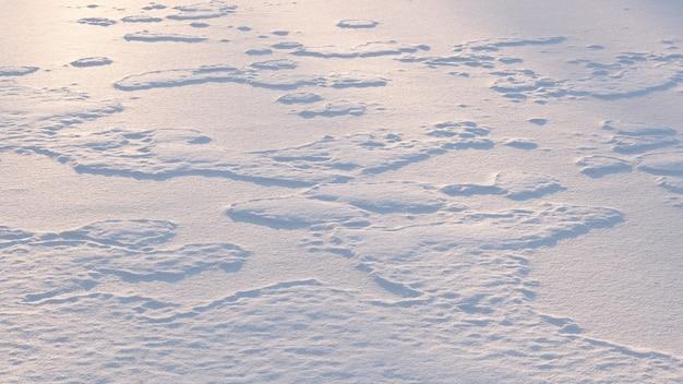 Tekstura tło biały śnieg grzywny