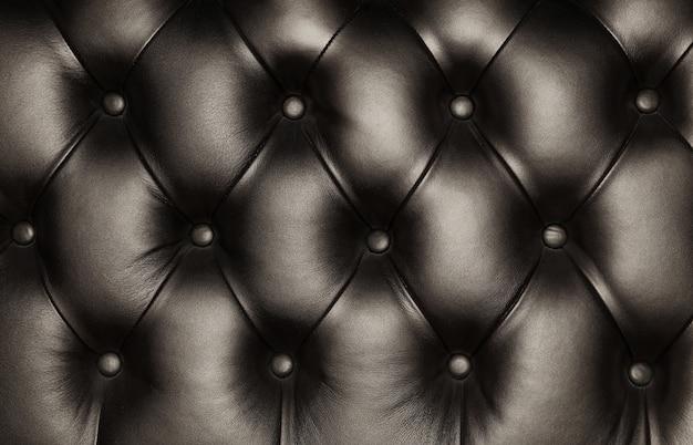 Tekstura tło czarna skóra capitone