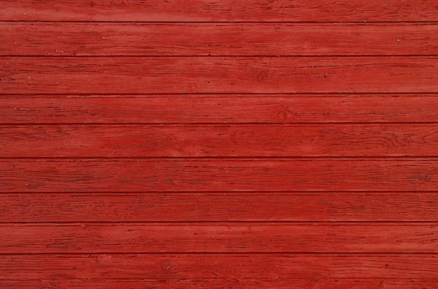 Tekstura tło czerwone malowane drewniane deski