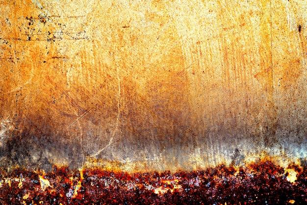 Tekstura tło streszczenie skorodowane stary zardzewiały metal