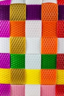 Tekstura tło tkane z tworzywa sztucznego linii