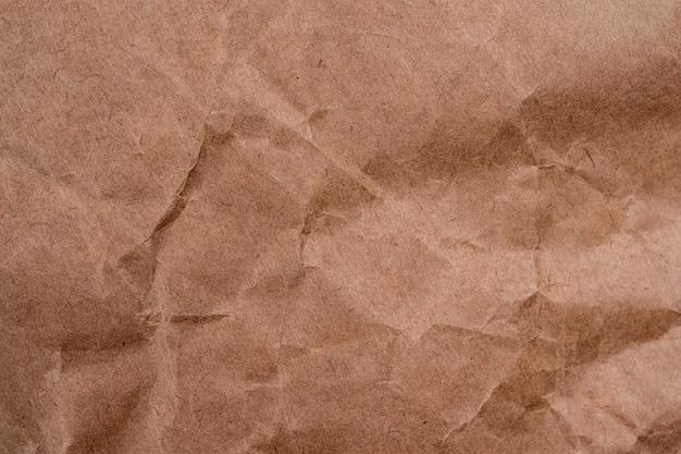 Tekstura tło vintage zmięty papier brązowy. tło tekstury papieru, zmięty papier
