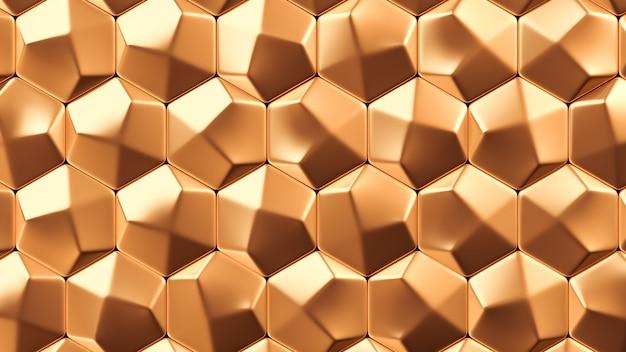 Tekstura tło złoto metal. renderowanie 3d.