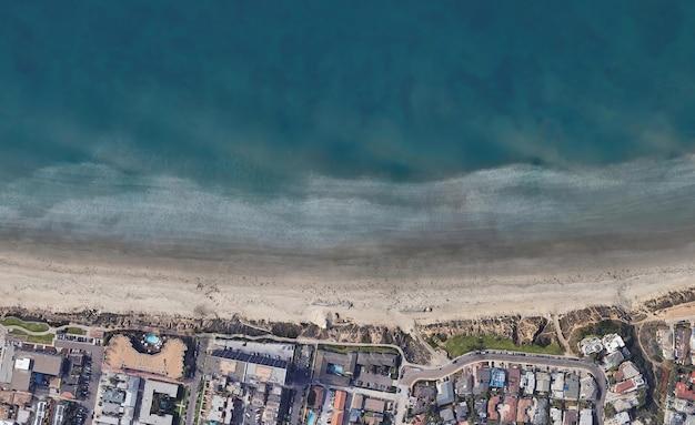 Tekstura widoku satelitarnego z góry nad turmalinem w kalifornii