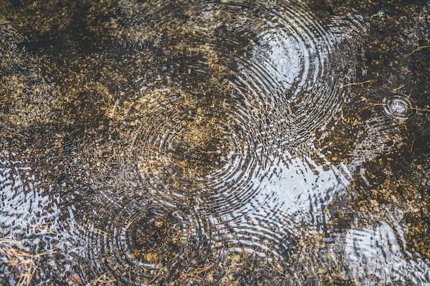 Tekstura wody w strumieniu z falami sferycznymi.