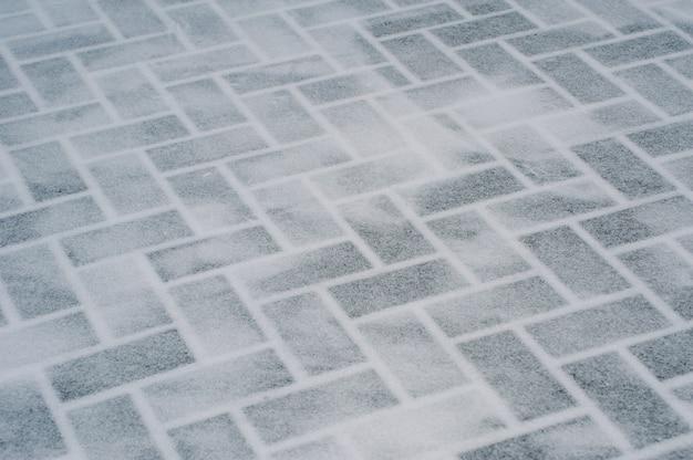 Tekstura wykonana z przezroczystych cegieł lodowych