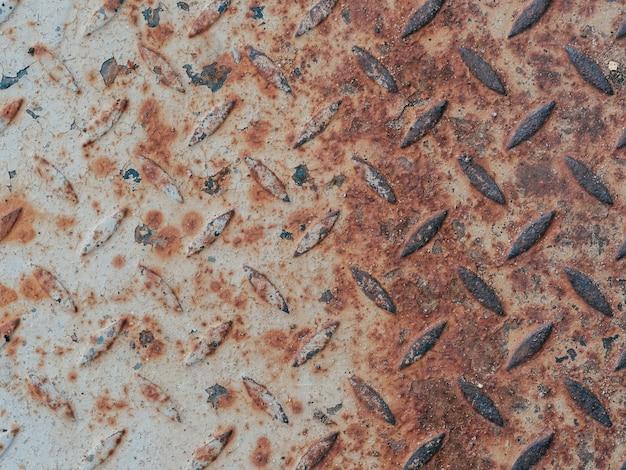 Tekstura zardzewiałego starego metalu z korozją