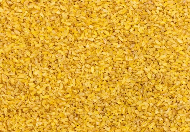 Tekstura ziarna pszenicy bulgur